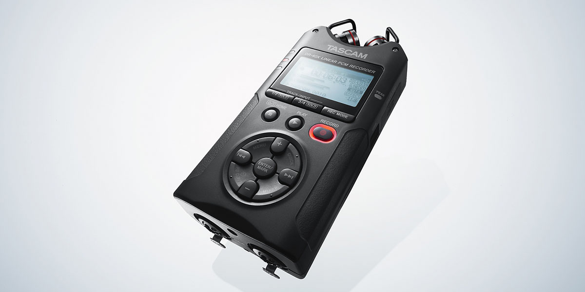how to use tascam dr-40 with external mic